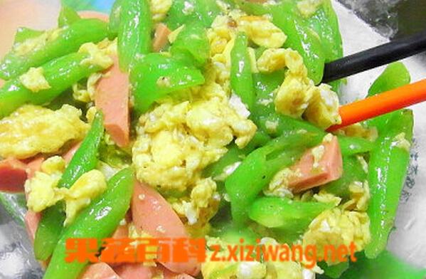 果蔬百科蛇豆炒鸡蛋
